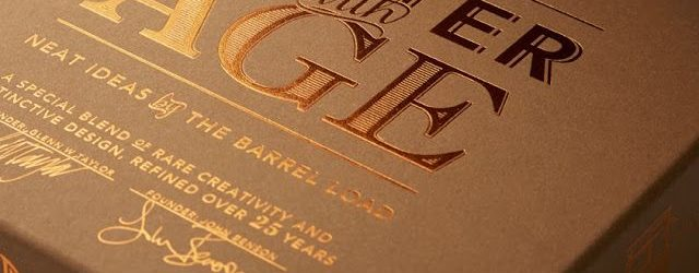 Cardboard Gold Print